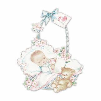 Sweet Vintage Baby Girl Cutout
