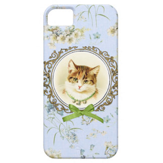 Sweet vintage cat portrait iPhone SE/5/5s case