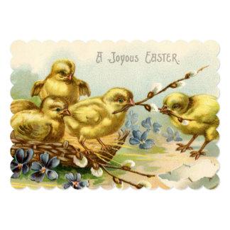 Sweet Vintage Chicks Easter Brunch 5x7 Paper Invitation Card