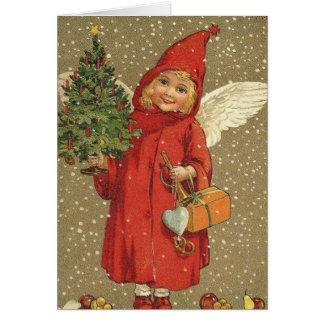 Sweet Vintage Christmas Angel Card