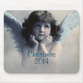 Sweet Vintage Christmas Angel Mousepad