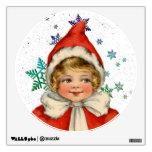 Sweet Vintage Christmas Elf Girl Wall Decor