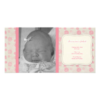 Sweet Vintage Floral Birth Announcement Photo Card