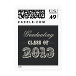 Sweet Vintage Graduation Postage Stamp - Charcoal Stamps