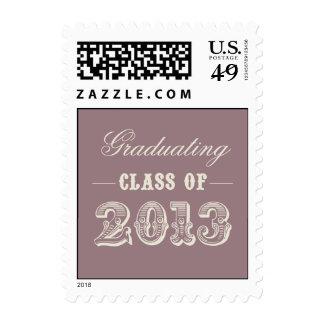 Sweet Vintage Graduation Postage Stamp - Plum