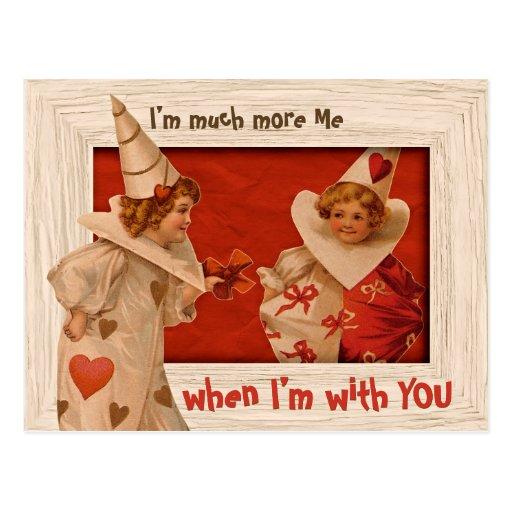 Sweet Vintage Pierrot CC0658 Valentine Postcard