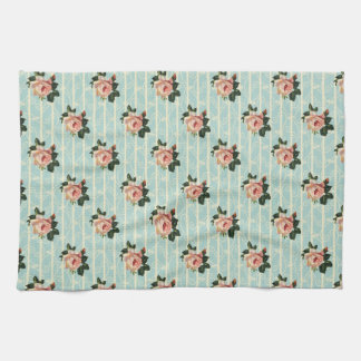 Sweet Vintage Shabby Chic Roses Floral Hand Towel
