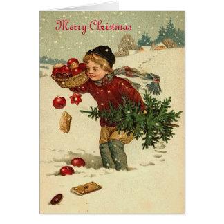 Sweet Vintage Xmas greeting card