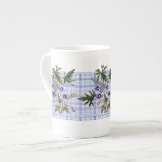 Sweet Violets Botanical Floral Bone China Mug