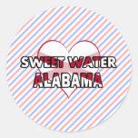 Sweet Water, Alabama Round Sticker