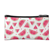 Sweet Watercolor Watermelon Pattern Cosmetic Bag