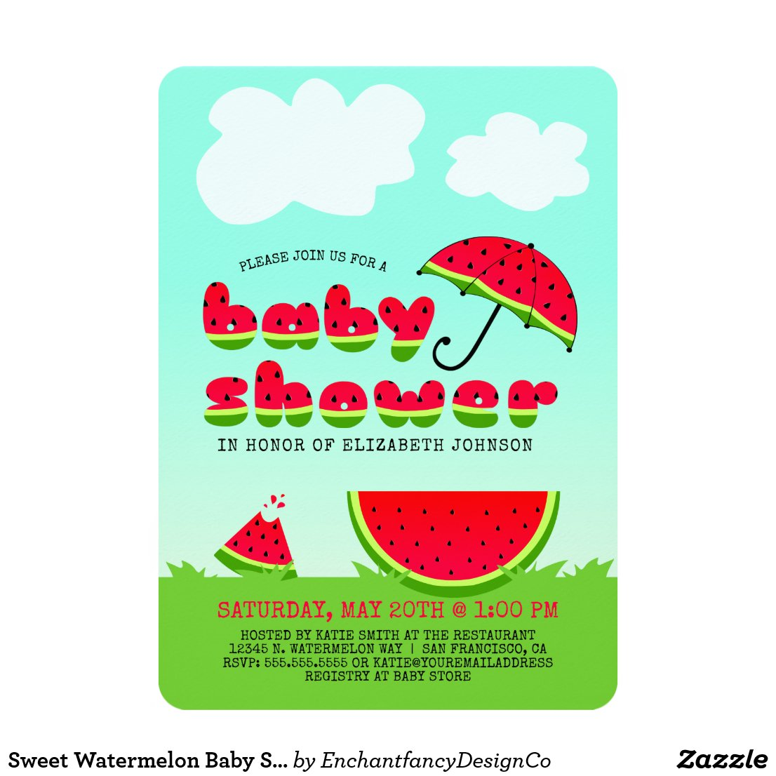 Sweet Watermelon Baby Shower
