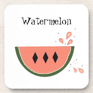 Sweet Watermelon Drink Coasters