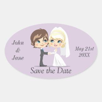 Sweet Wedding Day Oval Sticker