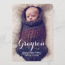 Sweet Welcome Two Photo Modern Birth Announcement