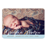 """Sweet Welcome Two Photo Modern Birth Announcement 5"""" X 7"""" Invitation Card"""