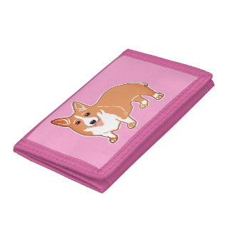 Sweet Welsh Corgi Cool Pop Pink Wallet