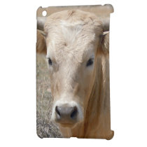 Sweet Western Charolais Cow Face Case For The iPad Mini