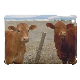 Sweet Western Friendly Red Cows Case For The iPad Mini