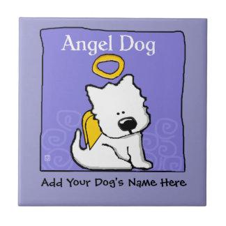 Sweet Westie Dog Angel Memorial Ceramic Tile