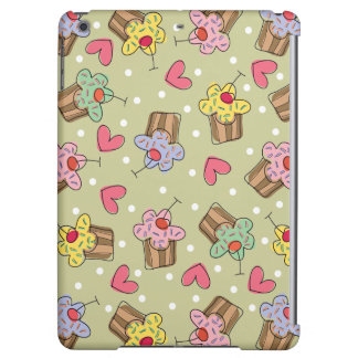 Sweet Whimsical Cherry Cupcakes Hearts Dots Casing iPad Air Case