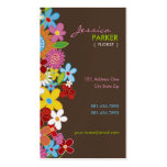 Sweet Whimsical Spring Flowers Colorful Garden Business Cards