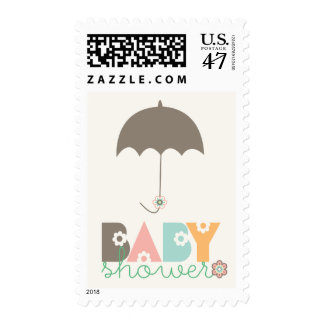 Sweet Whimsy Daisy Blooms Girl Baby Shower Stamps