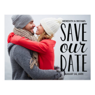 Sweet Whimsy | Photo Save the Date Postcard