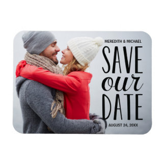 Sweet Whimsy | Photo Save the Date Rectangular Photo Magnet