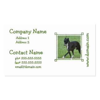 Sweet Whippet Double-Sided Standard Business Cards (Pack Of 100)