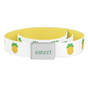 Sweet white and yellow pineapple belt