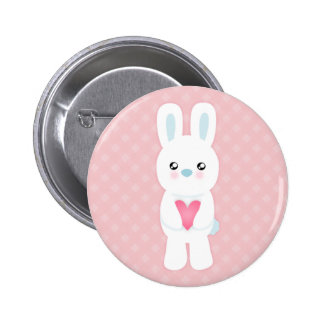 Sweet White Bunny Pins