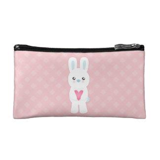Sweet White Bunny Makeup Bag