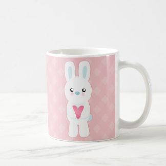 Sweet White Bunny Classic White Coffee Mug