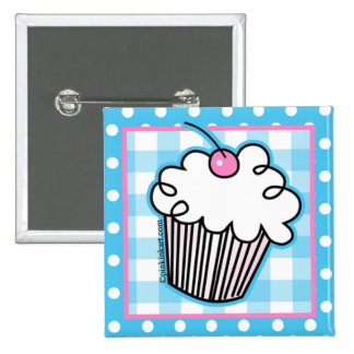 Sweet White Cupcake Button
