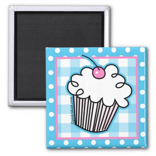 Sweet White Cupcake Kitchen Magnet