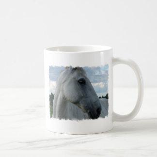 Sweet White Horse Mugs