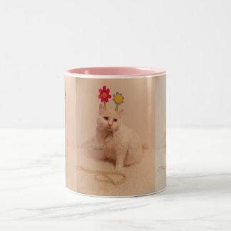 Sweet White kitty Mug