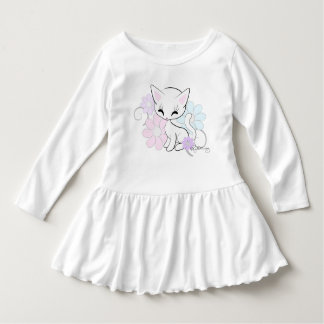Sweet White Pastel Kitten With Flowers T-shirts