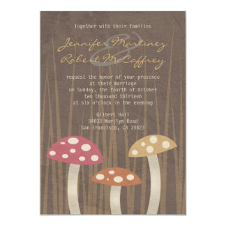 Sweet Wild Mushroom Wedding Invitations