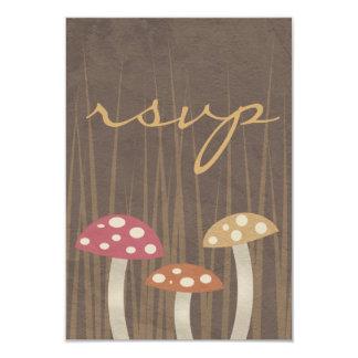 Sweet Wild Mushroom Wedding RSVP Reply Card
