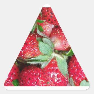 Sweet Wild Strawberries Triangle Sticker