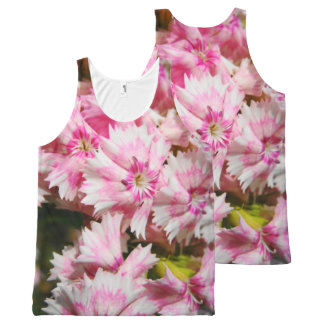 Sweet William Flowers All-Over Print Tank Top