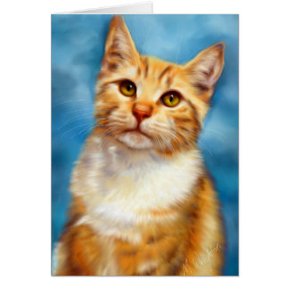 Sweet William - Orange Tabby Cat Art Cards