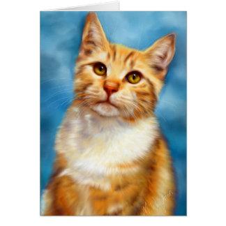 Sweet William - Orange Tabby Cat Art Greeting Card