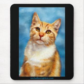 Sweet William - Orange Tabby Cat Art Mouse Pad