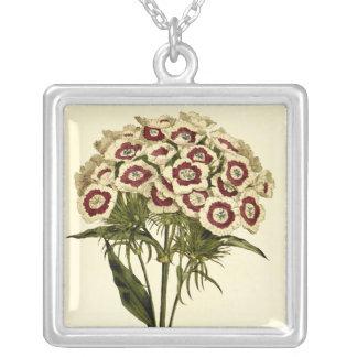 Sweet William Square Pendant Necklace