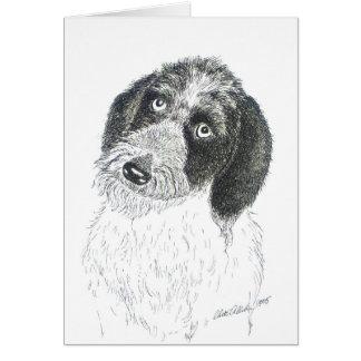 Sweet Wire Hair Fox Terrier Note card