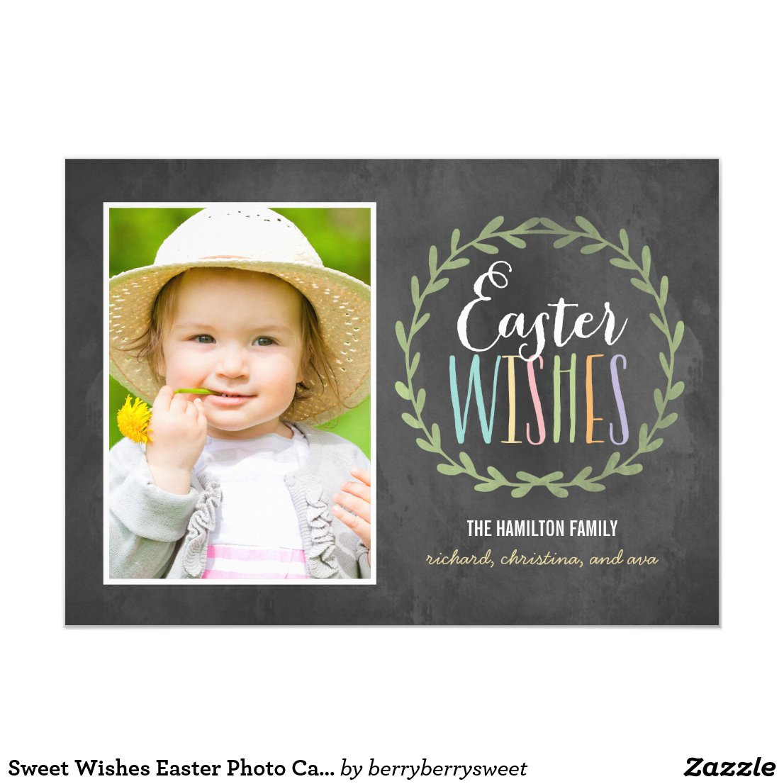 Sweet Wishes Easter Photo Cards