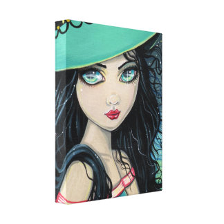 Sweet Witch Wrapped Canvas Print